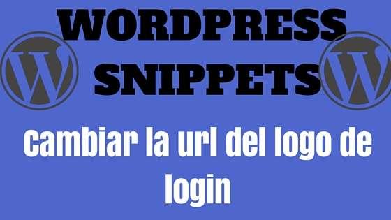 Wordpress Snippet - Cambiar la url del logo del login