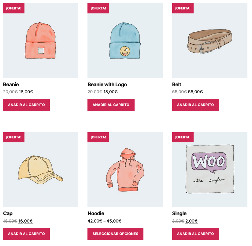 WooCommerce Shortcode - Productos [products]