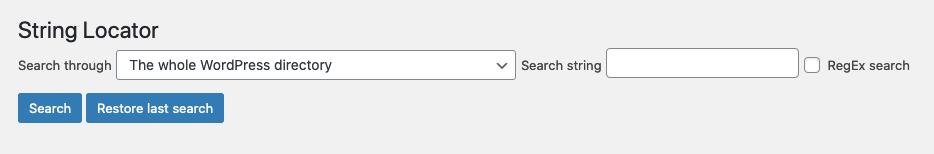 String Locator - Localizar cadenas de texto en WordPress