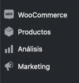 Quitar opción menu Márketing WooCommerce