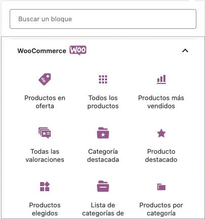 WooCommerce Bloques
