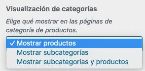 WooCommerce - Visualización de categorías