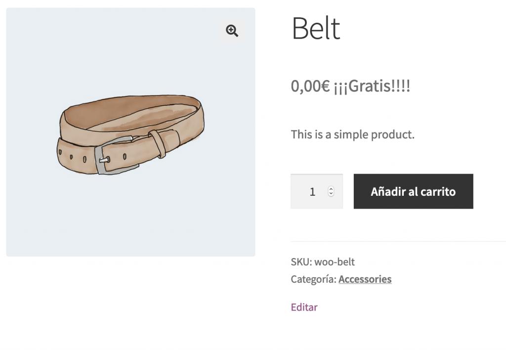 """Añadir el texto """"Gratis"""" en los productos con precio """"cero"""" en WooCommerce"""