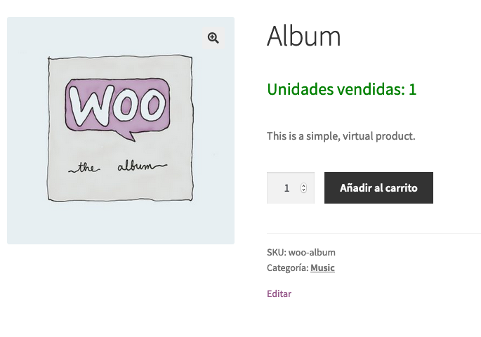 WooCommerce mostrar las unidades vendidas de cada producto