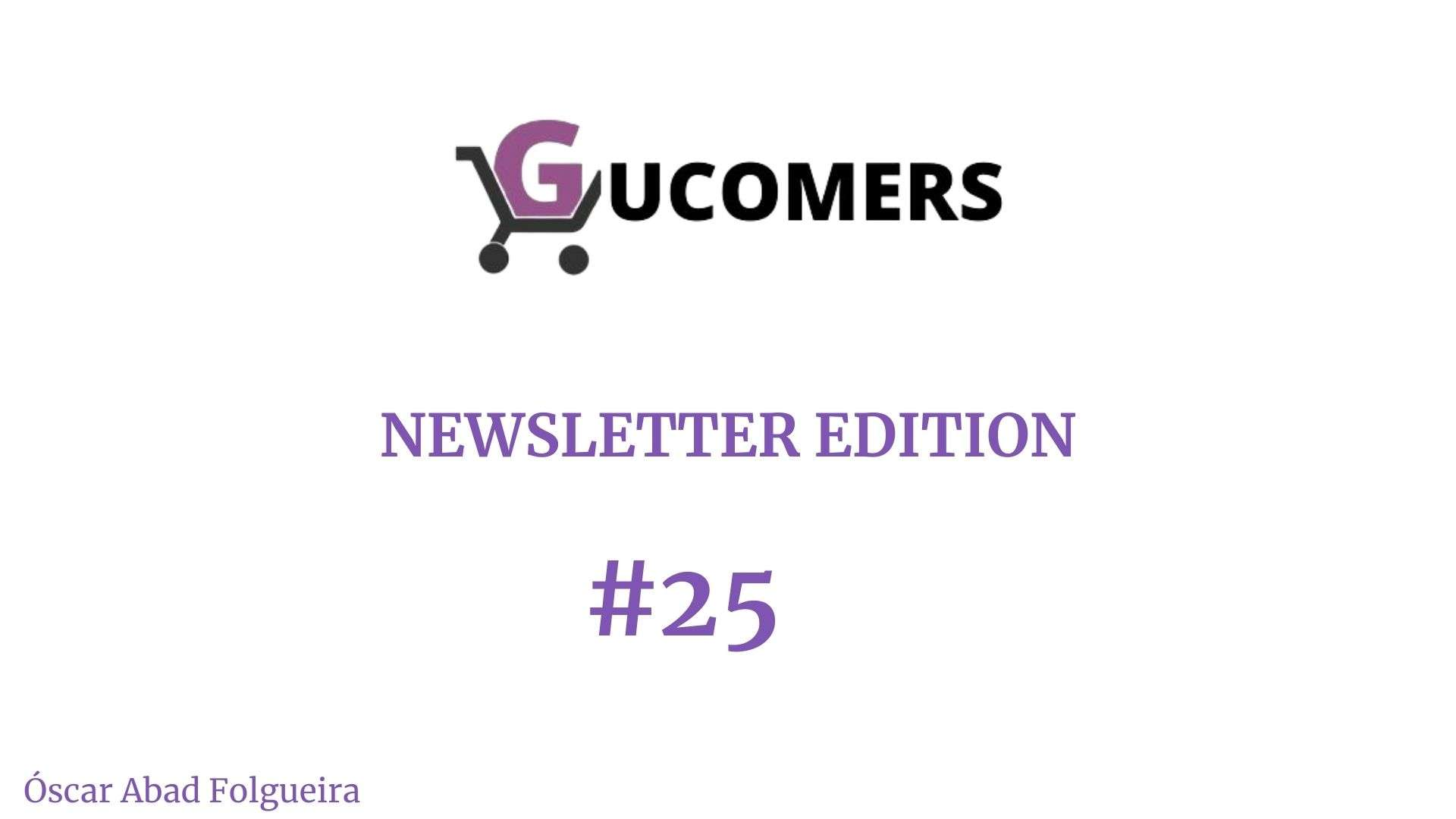 Newsletter Gucomers 25