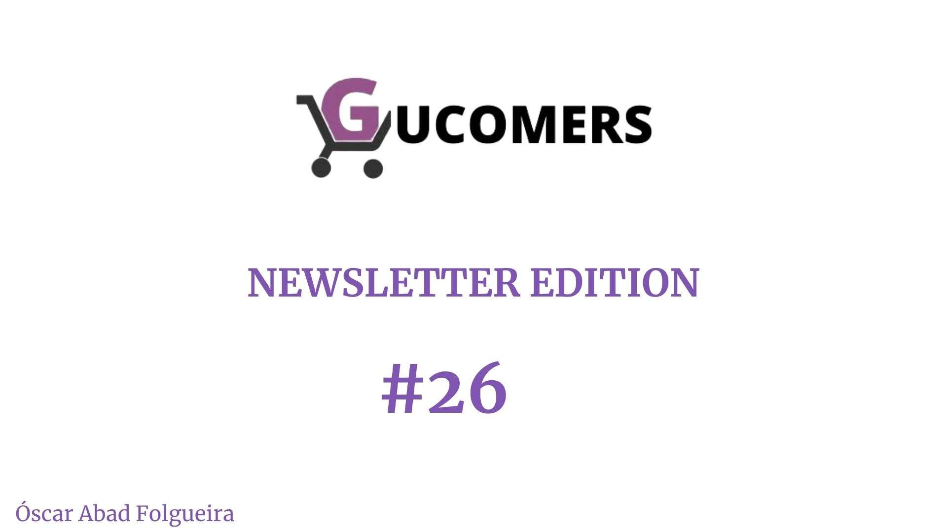 Newsletter Gucomers 26